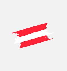 flag brush austria vector image