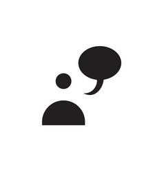 flat conversation people talk bubble chat speech vector image