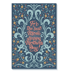 for best mom happy mothers day card vector image