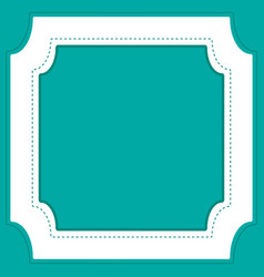 Frame template design with green background vector