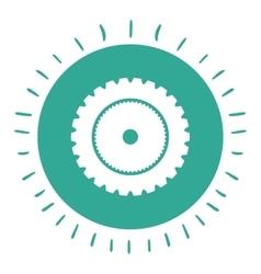 gear wheel isolated icon design vector image