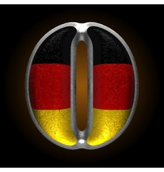 Germany metal figure o vector