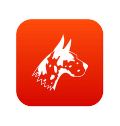 Great dane dog icon digital red vector