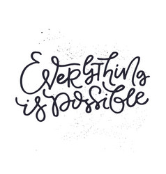 Hand drawn lettering vector