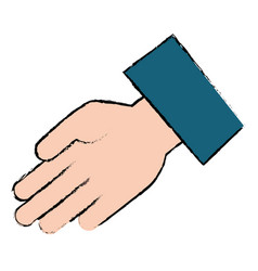 Hand receiving isolated icon vector