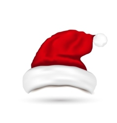 Hat Santa Claus Isolated On White Background vector