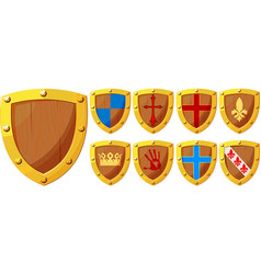 knight shields set vector image
