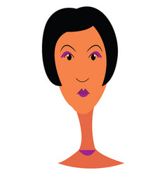 lady with purple make up or color vector image