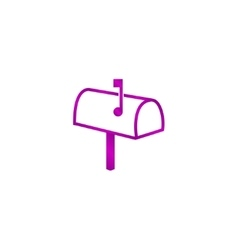 Mailbox Icon Flat design style vector image