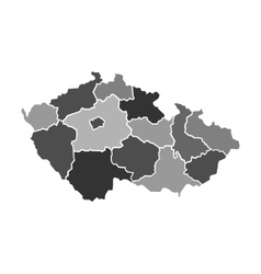 Map of Czech Republic vector