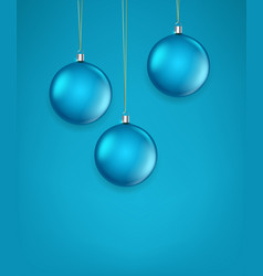 matte green glass christmas baubles template for vector image