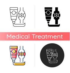 Ointment for arthritis icon vector