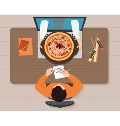 Online pizza order concept Delivery vector