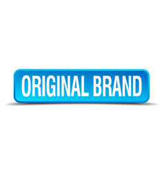 Original brand blue 3d realistic square isolated vector