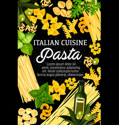 Pasta and italian cuisine food vector