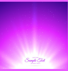 purple sunburst shiny glowing background vector image