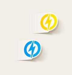 Realistic design element lightning bolt vector