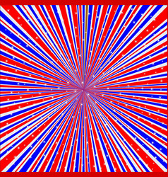 Red white and blue rays background with stars vector
