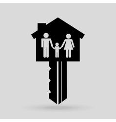 Residential icon design vector