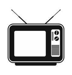 Retro tv simple icon vector image