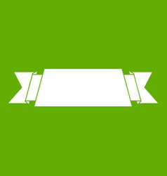 ribbon banner icon green vector image