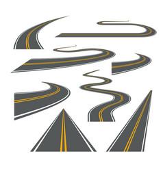 Road way winding journey highway vector