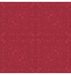 romantic dark red seamless pattern vector image