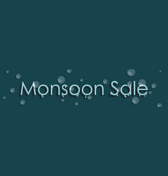 season sale banner sale poster of monsoon with vector image