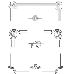 set for decoration page vector image