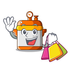 Shopping cartoon rice electric cooker in kitchen vector
