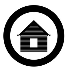 Siding front icon black color in circle vector