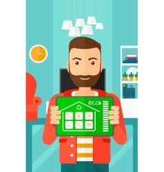 Smart home application vector image vector image
