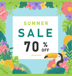 summer sale 70 off jungle background image vector image