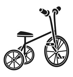 tricycle icon simple style vector image