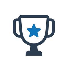 trophy victory icon vector image