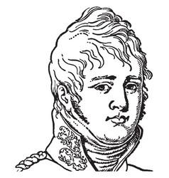 Tsar alexander i vintage vector