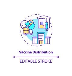 Vaccine distribution concept icon vector