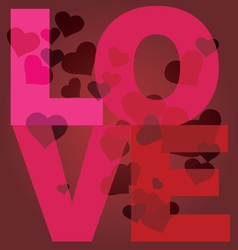 Valentine day love message print vector