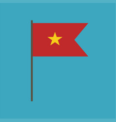 vietnam flag icon in flat design vector image