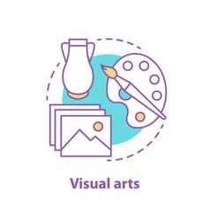 Visual art concept icon vector