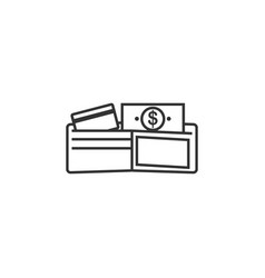 wallet money credit line icon simple modern flat vector image