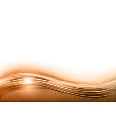 wave abstract brown vector image