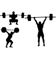 Weightlifting silhouettes vector