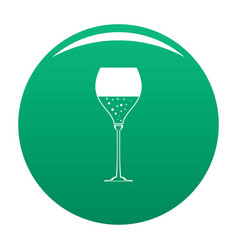 wine glass icon green vector image