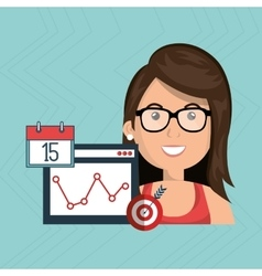 Woman target page web search vector