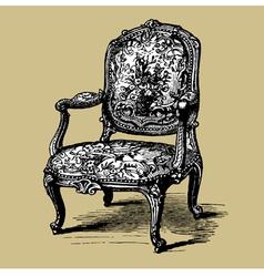 baroque armchair vector image