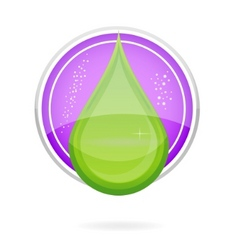 energy nature drop sign eco green color vector image vector image