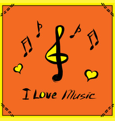 hand drawn music poster vector image vector image