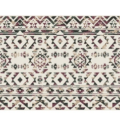 Native Americans pattern with camouflage texture vector image vector image