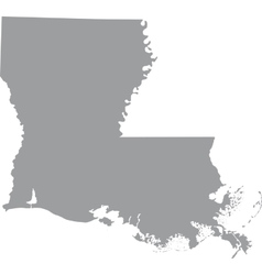 US state of Louisiana vector image